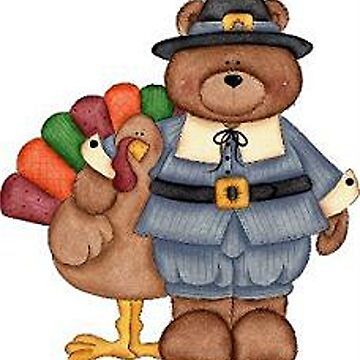 Teddy Pilgrim And Turkey by BlackStarGirl