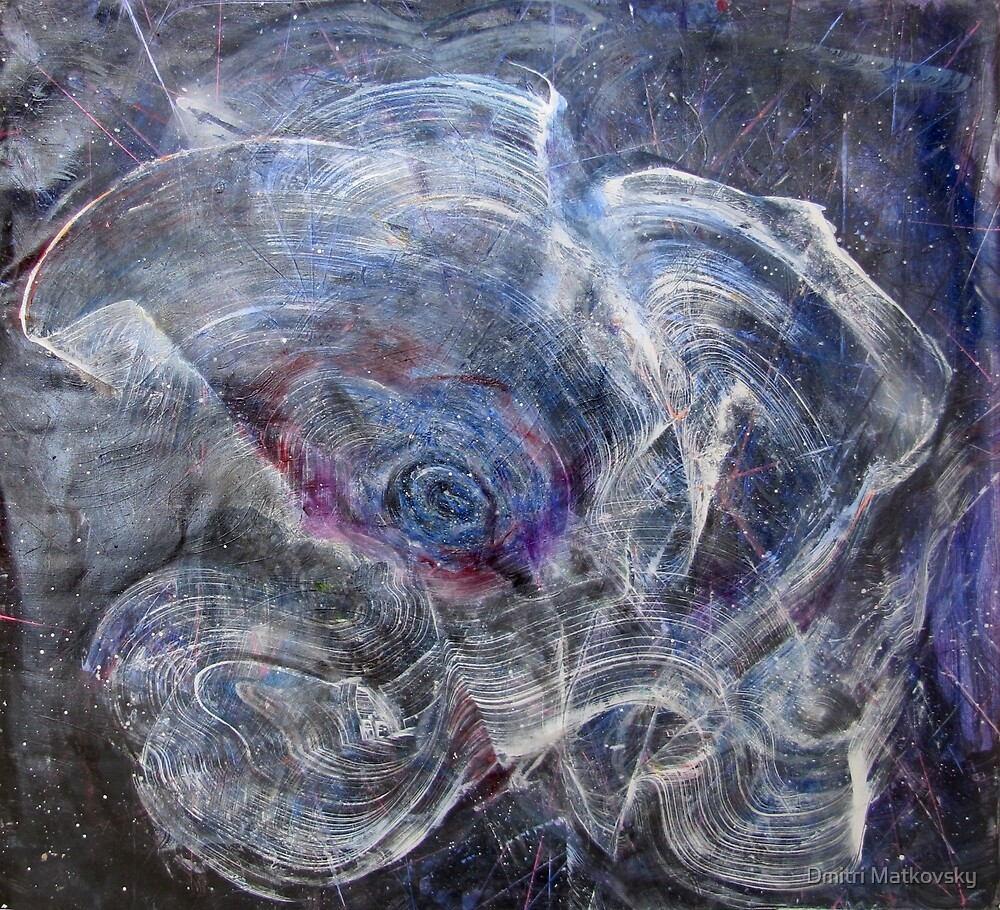 Female Galaxy Opening, Original painting by Dmitri Matkovsky