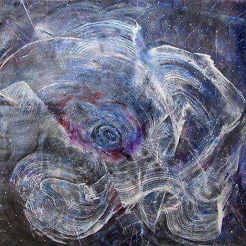 Female Galaxy Opening, Original painting by musicaroundus