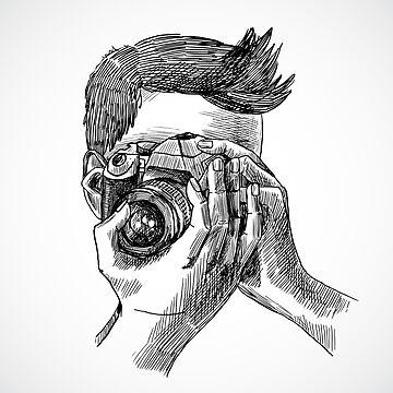 Photographer sketch portrait by Bokoro