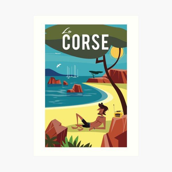 La Corse travel poster Art Print
