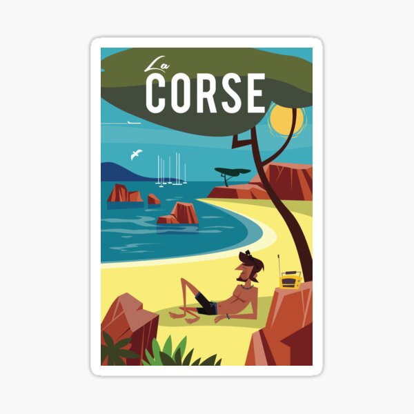 Affiche de voyage La Corse Sticker