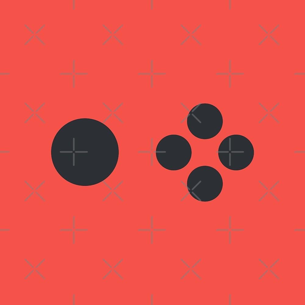Joyful Controller Buttons - Red by Pop-Fiction