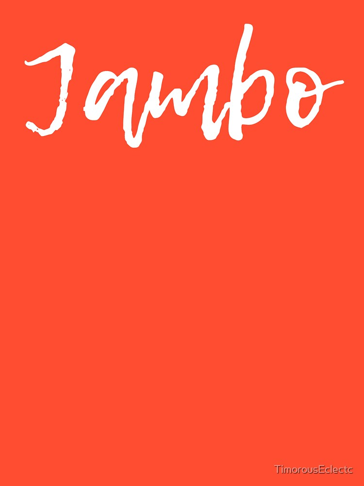 Jambo Friends (Now in White) by TimorousEclectc