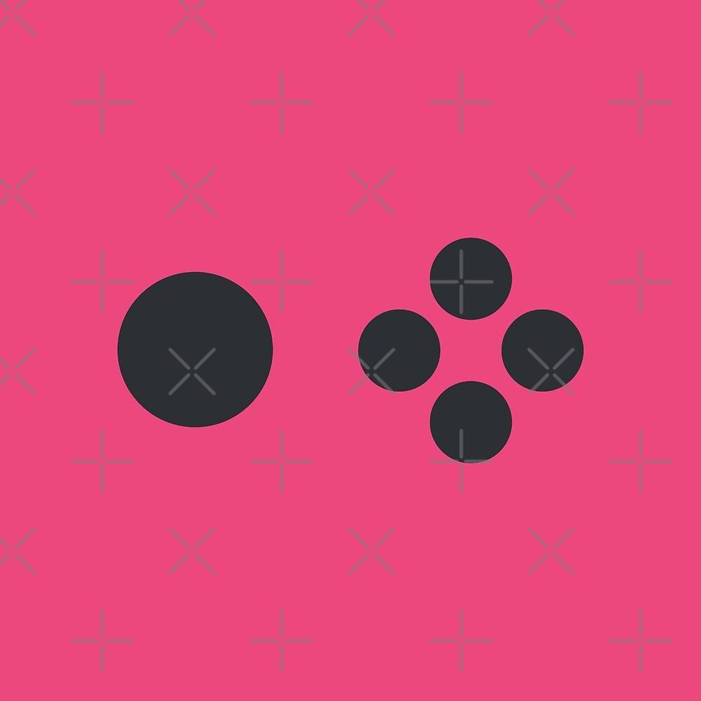 Joyful Controller Buttons - Pink by Pop-Fiction