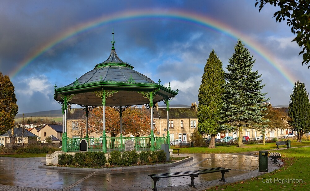 Rainbow Bandstand by Cat Perkinton