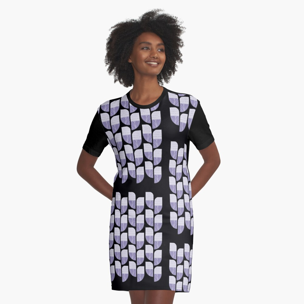 Pattern Graphic T-Shirt Dress Front