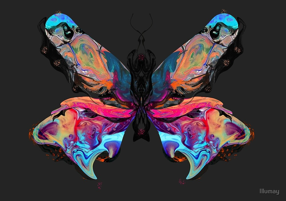 Psychedelic Butterfly  by Illumay