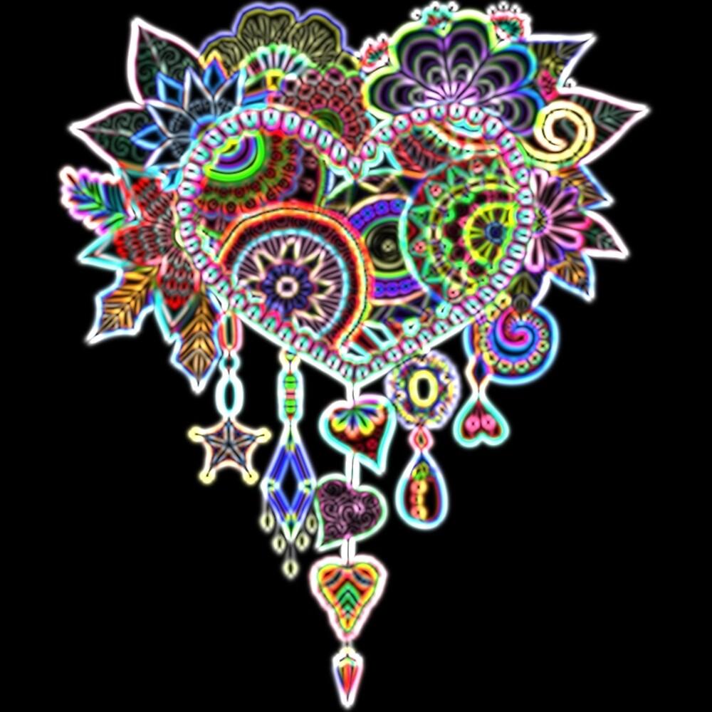 Heart Dreamcatcher Neon  by RonD58