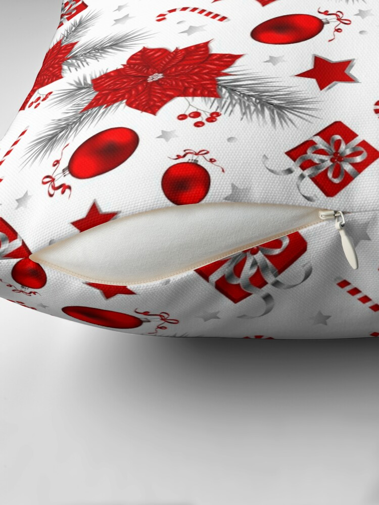 Alternate view of Christmas decoration pattern Floor Pillow