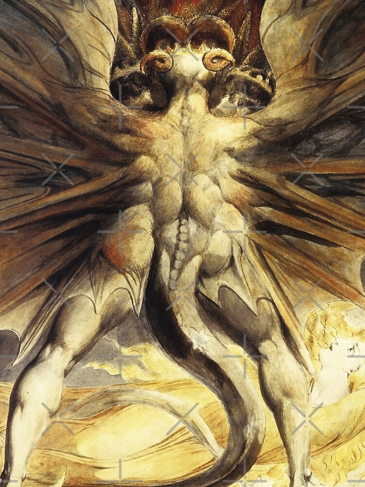 The Red Dragon and the Woman Clothed with the Sun-William Blake by LexBauer