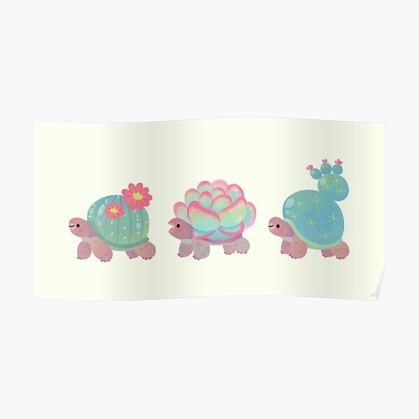 Cactus tortoise Poster