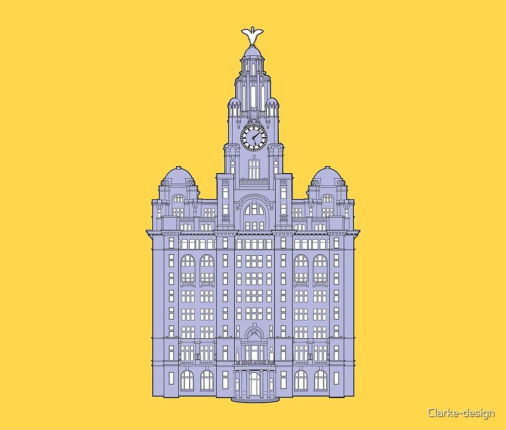 Royal Liver Building Illustration by Clarke-design