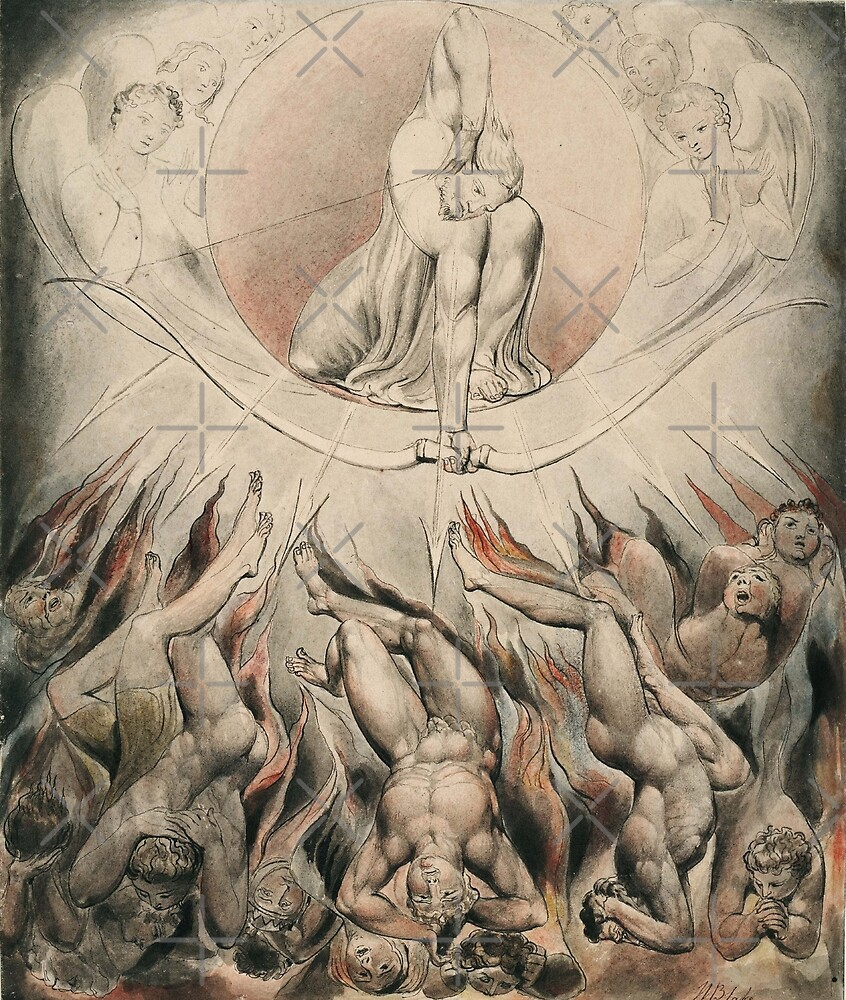 Illustration to Milton`s Paradise Lost(1807)-William Blake by LexBauer