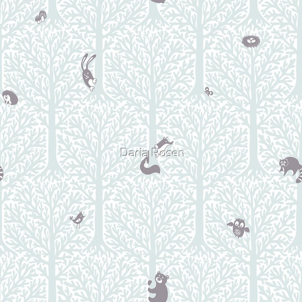 Cute forest animls by Daria Rosen