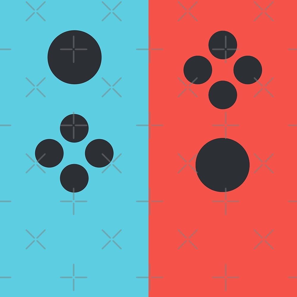 Joyful Controller Duo - Blue/Red by Pop-Fiction