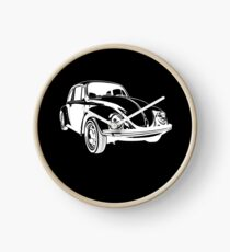 White VW Beetle Clock