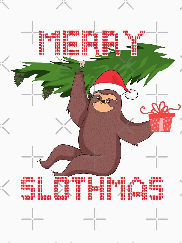 Merry Slothmas Sloth by rkhy