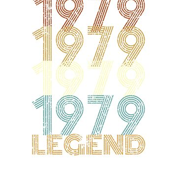 40th Birthday Born in 1979 Legend by kihei-design