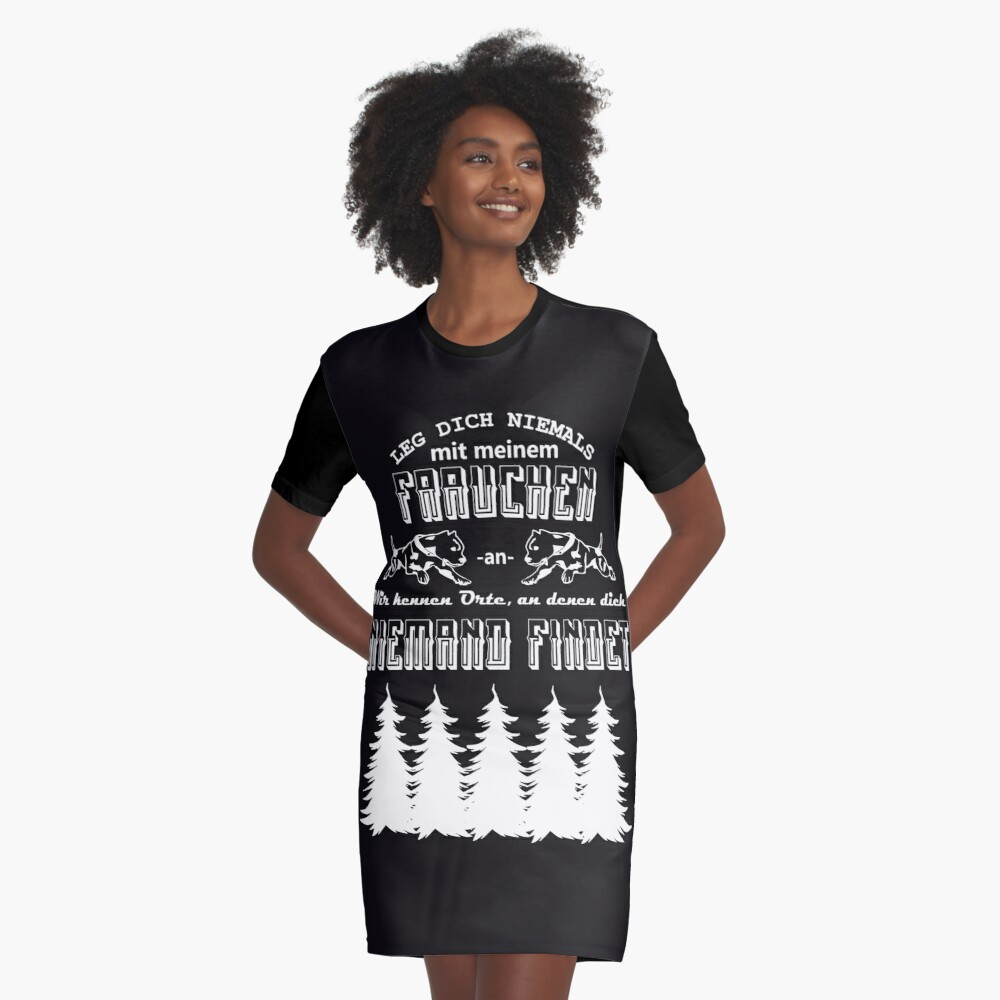 Never mess with my mum Graphic T-Shirt Dress Front