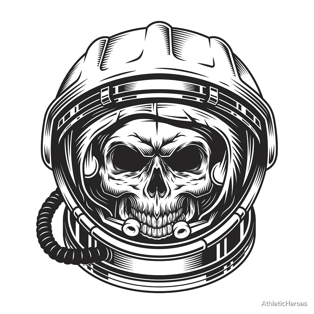 Skull Astronaut  by AthleticHeroes