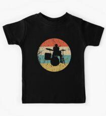 Drums Vintage Retro Music Kinder T-Shirt