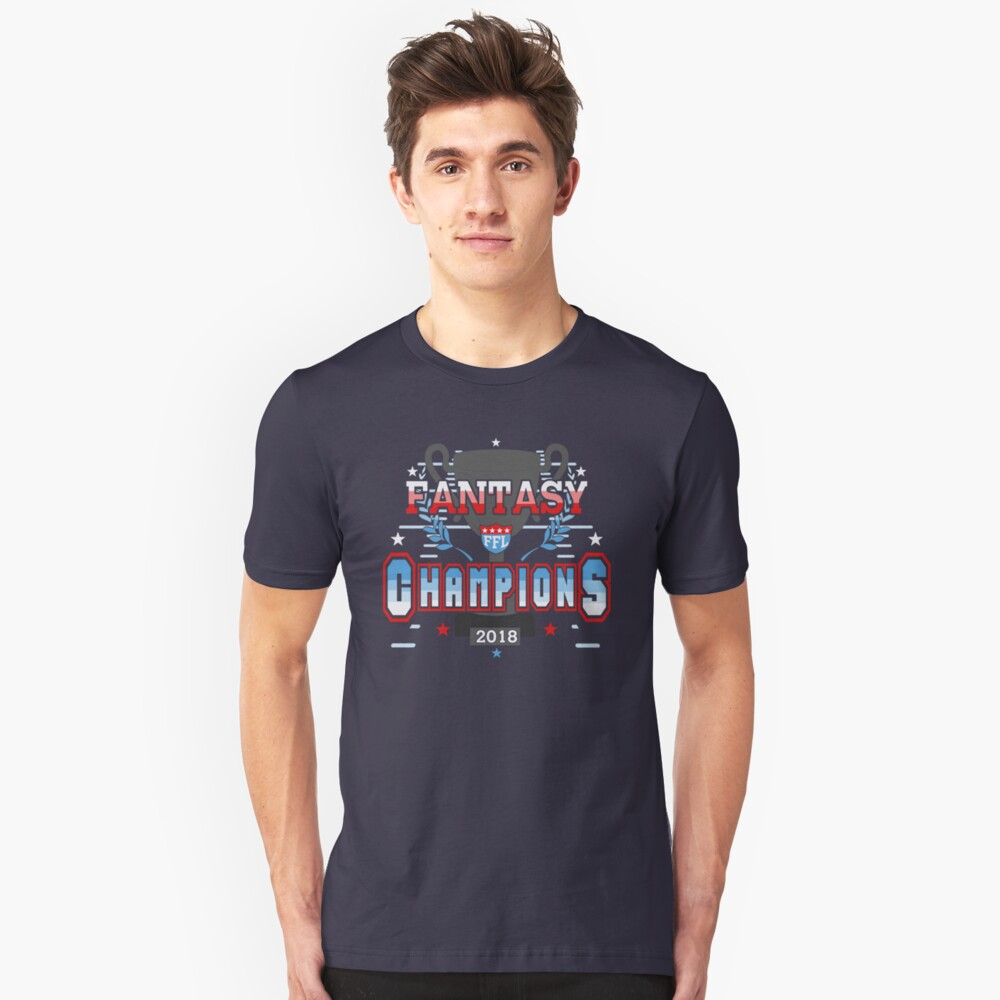 Fantasy Football Champions 2018 FFL Fantasy League Champs Unisex T-Shirt Front