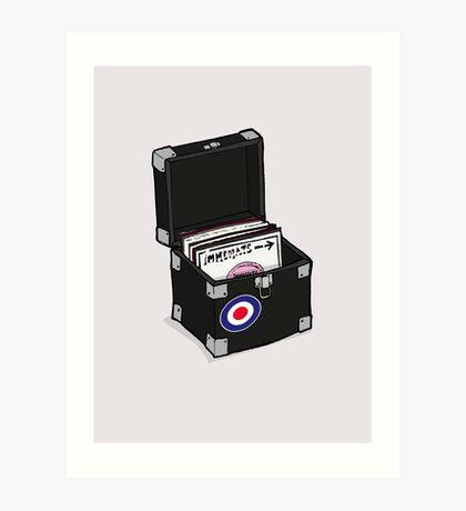 Retro Vinyl Singles Box - Mod Target Art Print