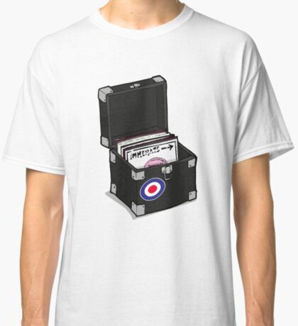 Retro Vinyl Singles Box - Mod Target Classic T-Shirt