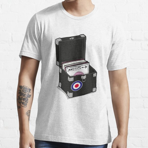 Retro Vinyl Singles Box - Mod Target Essential T-Shirt