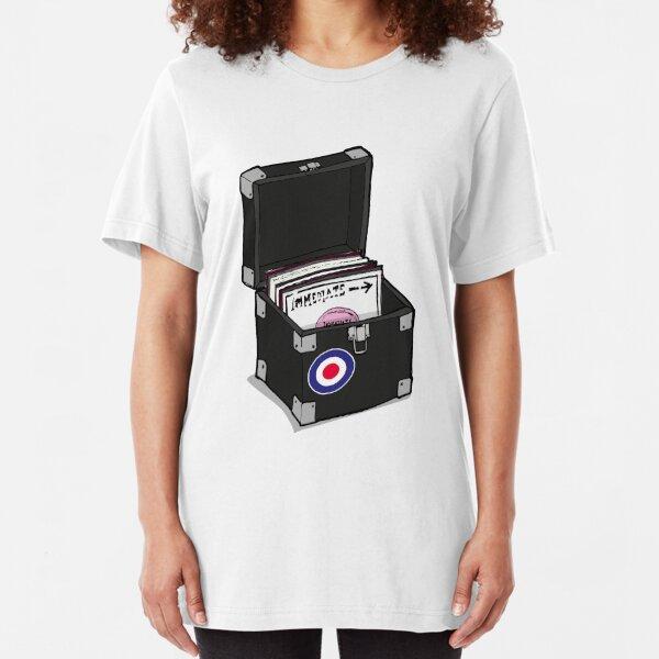 Retro Vinyl Singles Box - Mod Target Slim Fit T-Shirt