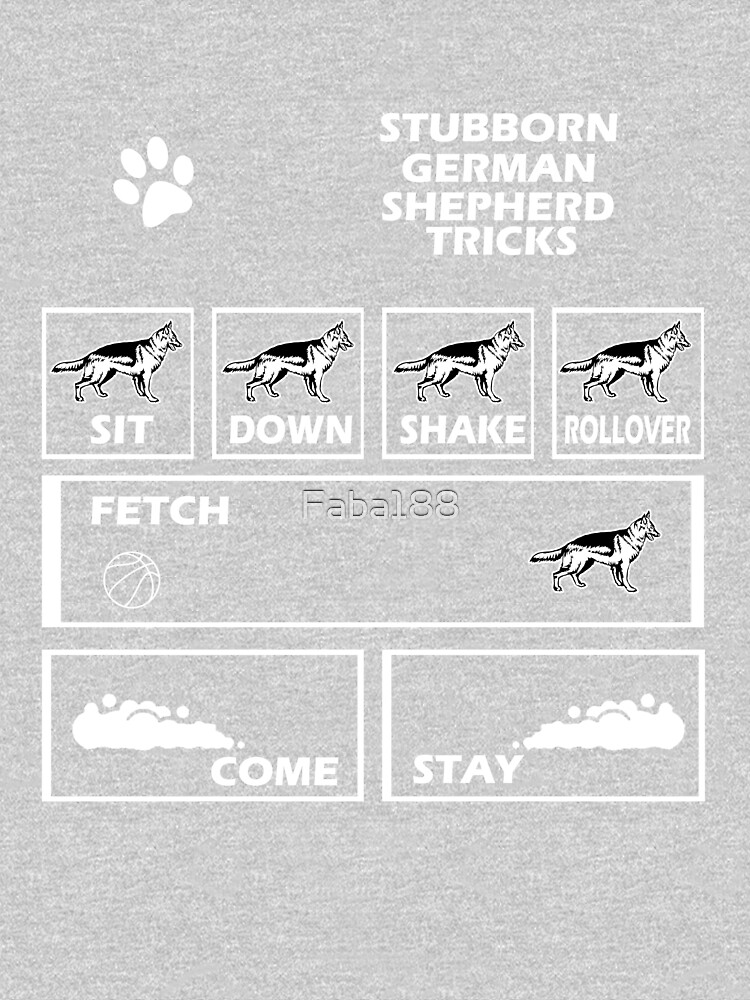 Stubborn German Shepherd Tricks by Faba188