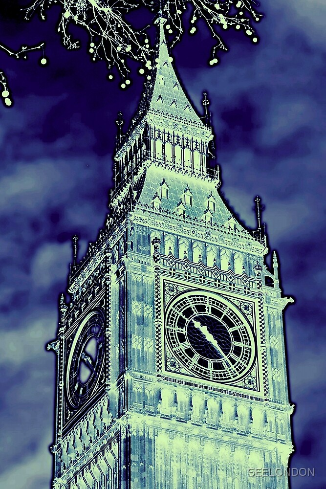 Big Ben blue by SEELONDON