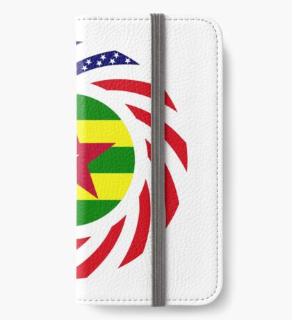 Togolese American Multinational Patriot Flag Series iPhone Wallet