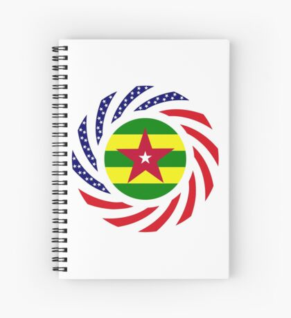 Togo American Multinational Patriot Flag Series Spiral Notebook