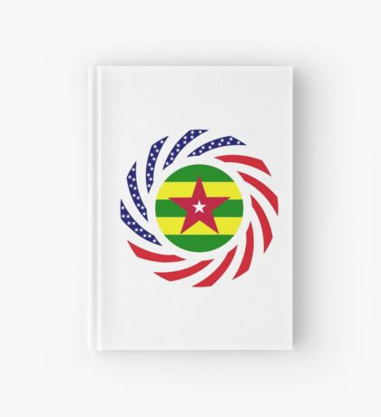 Togolese American Multinational Patriot Flag Series Hardcover Journal