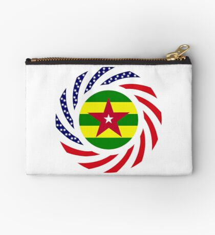 Togolese American Multinational Patriot Flag Series Zipper Pouch