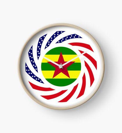 Togolese American Multinational Patriot Flag Series Clock