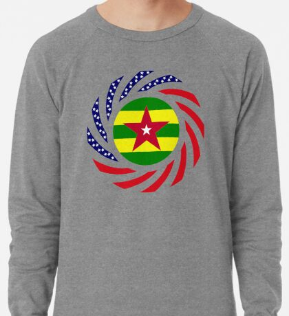 Togolese American Multinational Patriot Flag Series Lightweight Sweatshirt