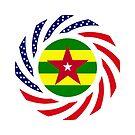 Togo American Multinational Patriot Flag Series by Carbon-Fibre Media