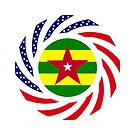 Togolese American Multinational Patriot Flag Series by Carbon-Fibre Media