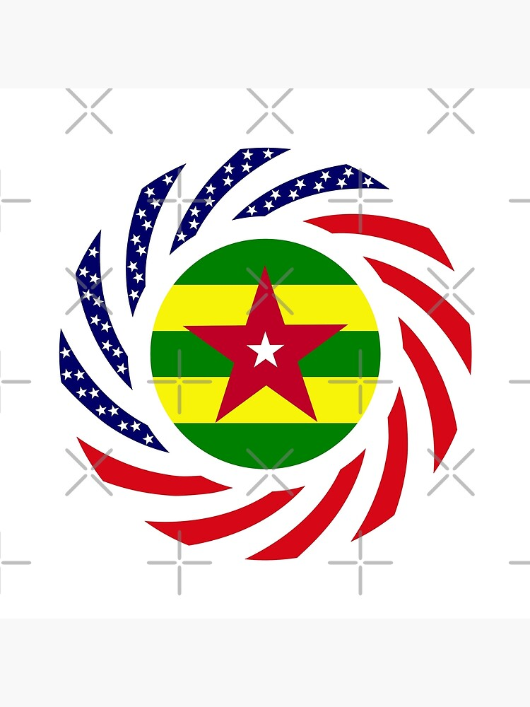 Togolese American Multinational Patriot Flag Series by carbonfibreme