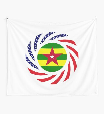 Togo American Multinational Patriot Flag Series Wall Tapestry