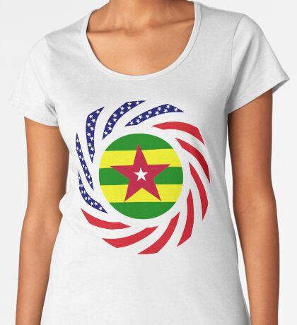 Togolese American Multinational Patriot Flag Series Premium Scoop T-Shirt