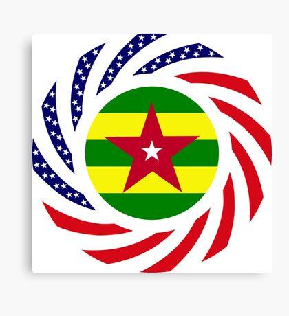 Togolese American Multinational Patriot Flag Series Canvas Print
