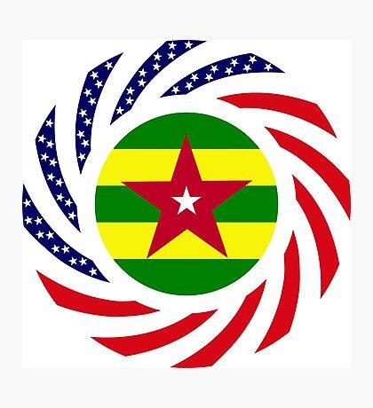 Togo American Multinational Patriot Flag Series Photographic Print