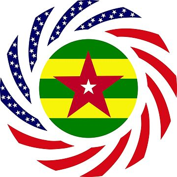 Togo American Multinational Patriot Flag Series by carbonfibreme
