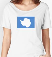 Flag of Antarctica  Women's Relaxed Fit T-Shirt
