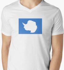 Flag of Antarctica  Men's V-Neck T-Shirt