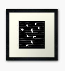 Sloth Stripe Framed Print